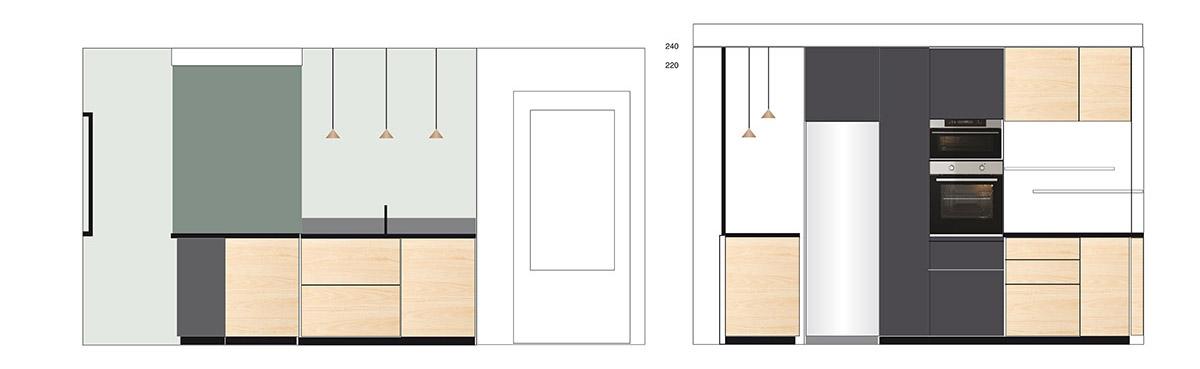 Décoration de cuisine dans une maison ou un appartement