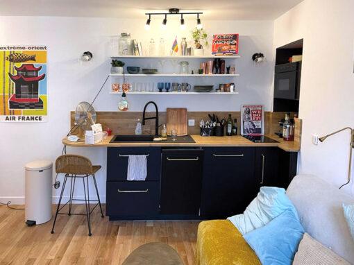 Rénovation d'un studio à Paris de 18,25 m2, du sol au plafond
